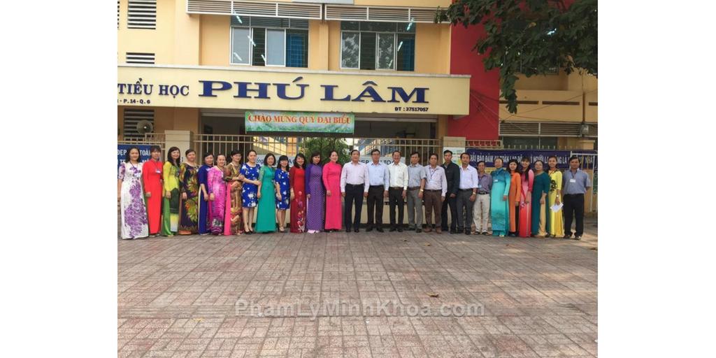 Trường tiểu học Phú Lâm năm 2016