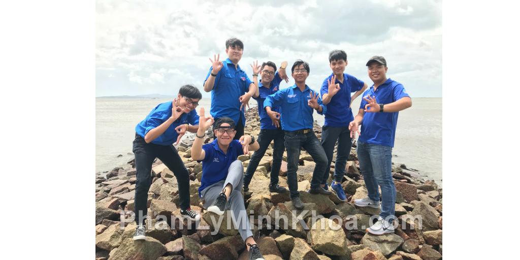 Chụp ảnh zero 9 tại đảo Thạnh An, huyện Cần Giờ.