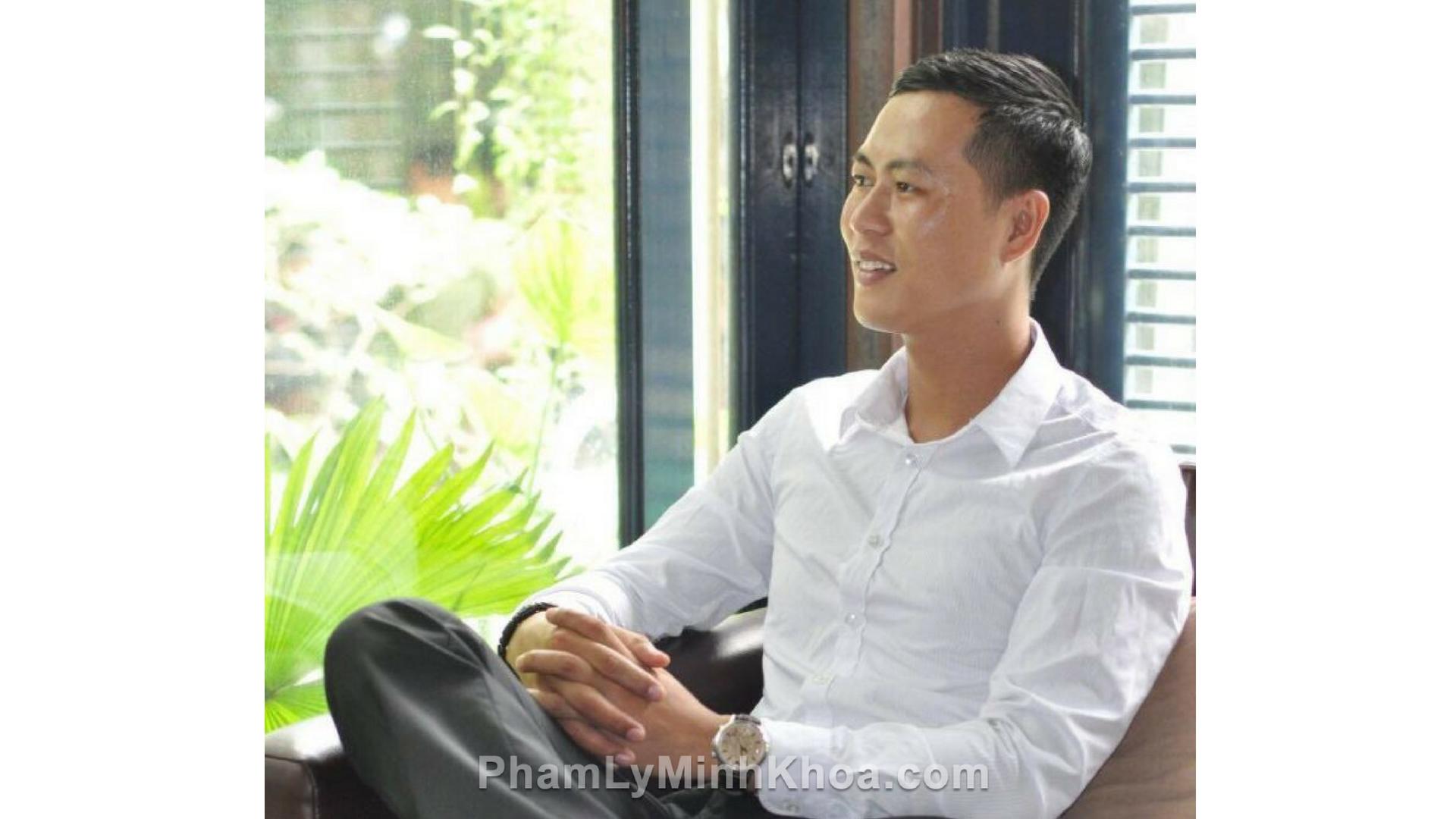 anh Phan Tấn Đông và Phạm Lý Minh Khoa