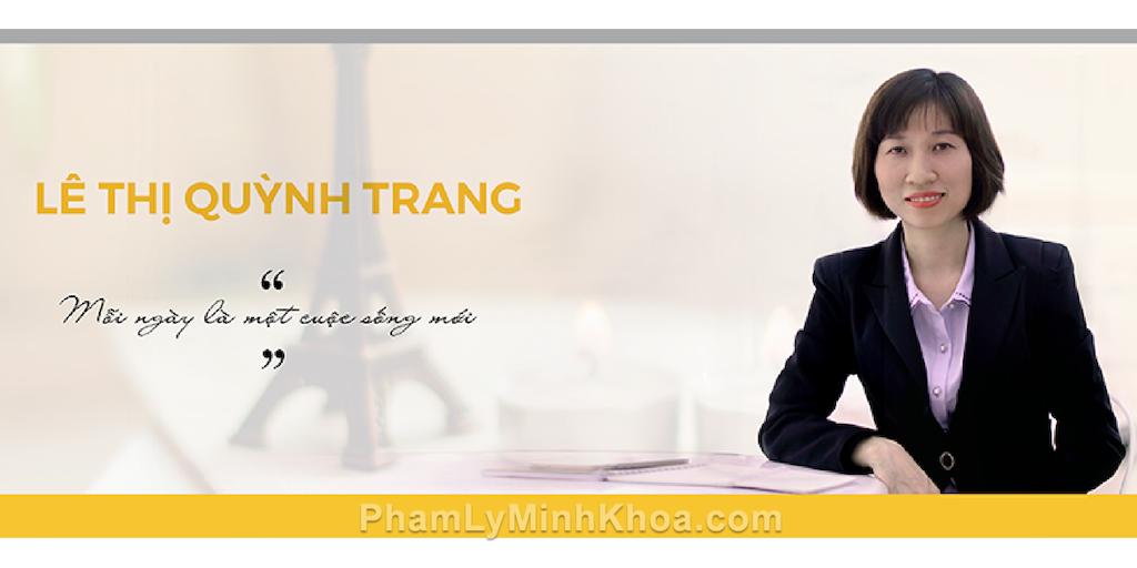 chị Lê Thị Quỳnh Trang và Pham Ly Minh Khoa