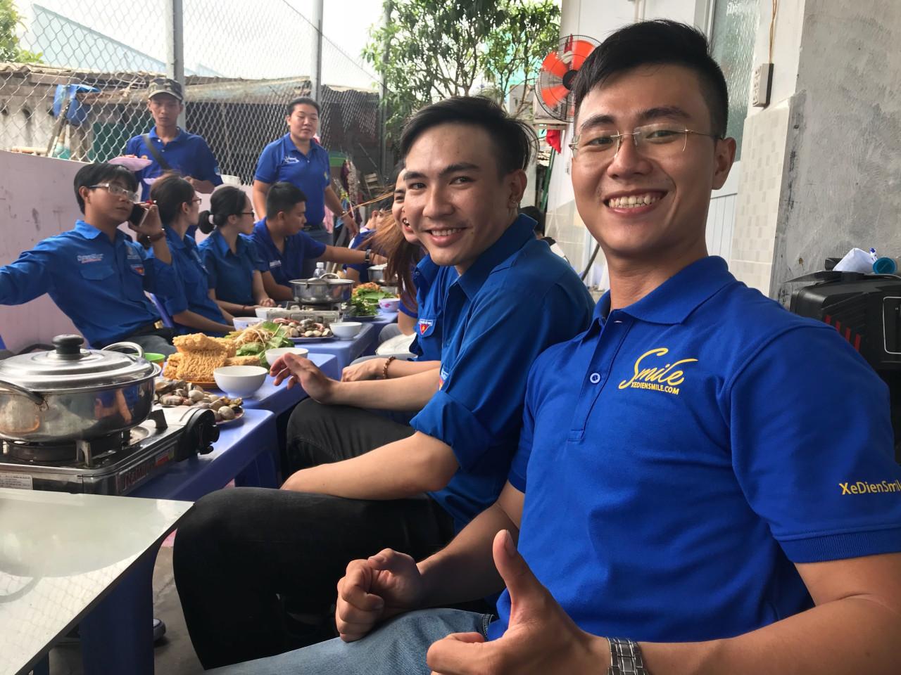 Dù các đồng đội Smile dùng thực phẩm mặn nhưng Khoa vẫn mong rằng các bạn có thể ăn chay càng nhiều càng tốt.
